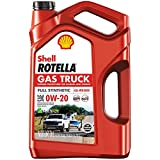 Shell Rotella Gas Truck Full Synthetic 0W-20 Motor Oil for Pickups and SUVs (5-Quart, Single Pack)