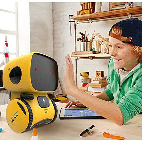 REMOKING Robot Toy, STEM Toys Robotics for Kids,Dance,Sing,Speak Like You,Recorder,Touch and Voice Control, Great Gifts for Kids