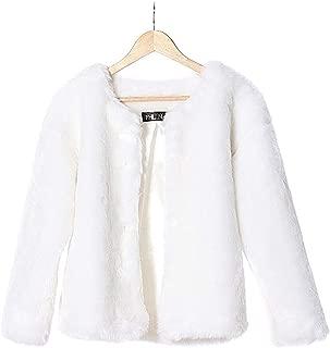 LHJ Women Faux Fur Coats, Women's Fur Jackets 2 Pockets Rabbit Hair Coat Outwear Warm Tops for Winter