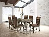 Dining Room Table Set with Tufted Dining Chairs Kitchen & Dining Room Sets (Table+Chairsx6)