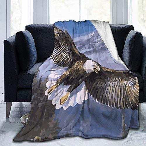 Plüsch Wurfdecke Adler fliegt über Berg Warm Fleece Teppich Schlafzimmer Sofa s...