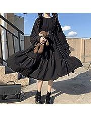 Yunbai Lolita Dresses Gothic Lolita Lolita Damesjurk Punk Japans Harajuku, mooie jurk, gothic Black Long Sleeve bandage