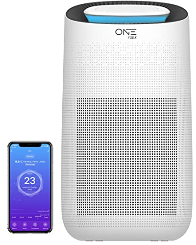 ONE Products WIFI Smart Air Purifier 3-in-1 HEPA...