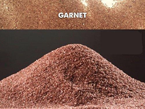 5kg garnet indiano 20 – 40 mesh sabbia abrasivo grana 0,40-0,85mm sabbiatrice e sverniciatura duri tenaci 7,5-8,0 mohs