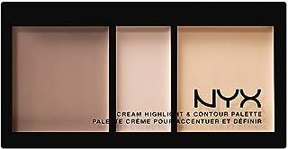 NYX PROFESSIONAL MAKEUP Cream Highlight & Contour Palette, Light 01