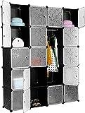 Sebastianee Ropero Combinado de 20 Cubos, Armario de Armario portátil DIY, Organizador de Almacenamiento Modular para Prenda, Libros,...