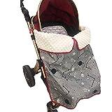 Kinderwagen Decken, Babydecke für Kinderwagen, Minky Dot Stoff Wasserdichte, Warm, Universal Outdoor Sack für Kinderwagen