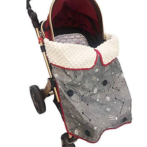 Miracle Baby Manta saco para cochecito,Manta Saco para Silla de Paseo y Cochecito de bebe,Mantas Impermeables para Cubiertas de Cochecito de Bebe con Clips, 30x 30 (cielo estrellado)