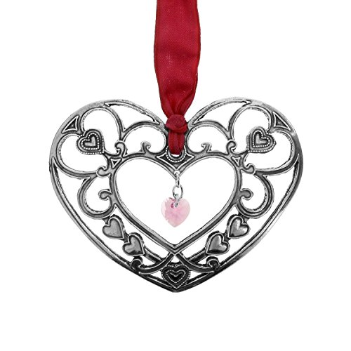 The Hearts Reflection Ornament, Metal, Handmade in the USA by Wendell August Forge