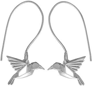Boma Jewelry Sterling Silver Origami Bird Earrings