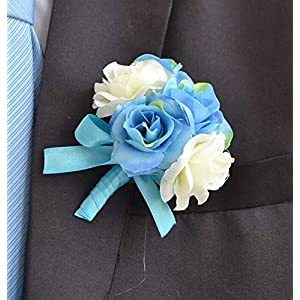 Artificial and Dried Flower Corsage Pin Groom Anemone Groomsman Party Prom Wedding Flowers Wedding Boutonniere Rose Branches Mix Colors