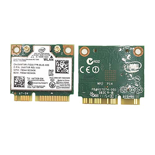 For Dual Band Intel Wireless-AC 7260 7260AC 7260HMW 2.4&5G 867M BT4.0 MiniPCIe WiFi Wireless Card