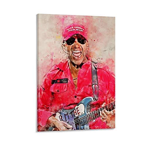YZLI 80s Guitarrista Thomas Morello Póster decorativo de la lona de la pared del arte de la sala de estar carteles pintura del dormitorio 50 x 75 cm