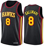 TPPHD Jerseys de Baloncesto para Hombre, NBA Atlanta Hawks 8# Danilo Gallinari Classic Swingman Jersey, Tejido Transpirable Fresco de la Vendimia Uniforme de Ventilador de la Estrella Unisex,XL