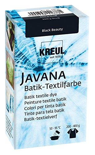 Kreul 98536 - Javana Batik Textilfarbe, 70 g Farbpulver in Black Beauty, zum Färben von Textilien mit der Shibori Technik