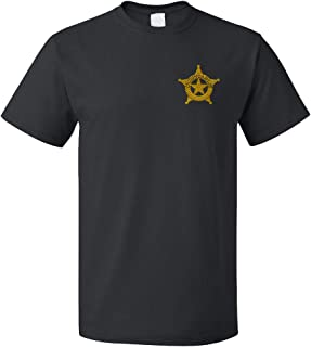 Funny Graphic T Shirts for Men Constable Police #2 Cotton Top