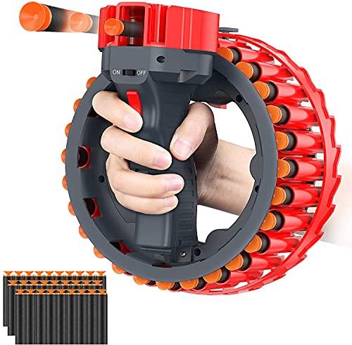 CYLYFFSFC Pulsera eléctrica Pistola de Bala Suave Ventosa de explosión EVA con 28 recargas de Espuma Suave simulación de Bala de dardo Disparos interactivos Pistola de explosión Recargable Pis