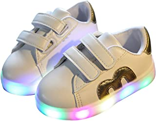 Kids Children Charge Led Boys Girls Light up Sneakers Flat Shoes Trainer