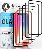 [4 Stück] LYMANO Panzer-Folie Glas Full Screen für iPhone 11 / iPhone XR Bildschirm-Schutzfolie Schutzglas Glass Protector [Anti Kratzer] [Blasenfrei] [Komplett Abdeckung] (6,1 Zoll) - Jetzt Ansehen