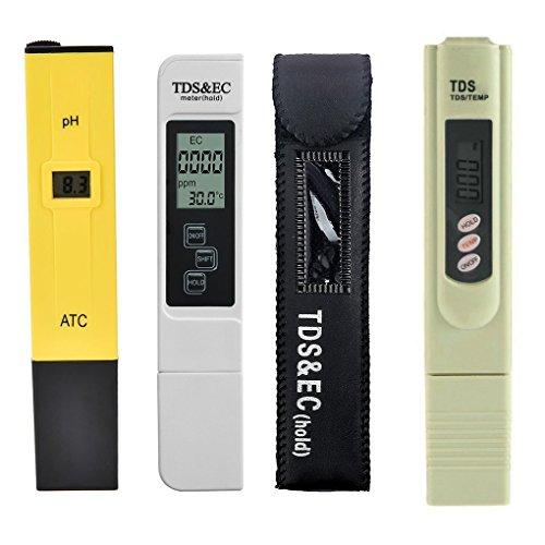 3pcs / lot Digital TDS Water Tester PH Meter Pen TDS EC Meter Aquarium Filter Water Quality Purity Tester