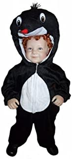 Ikumaal Maulwurf-Kostüm An47 für Babies und Klein-Kinder Faschingskostüme, Gr.-92-98/2-3 Jahre, Schwarz-Weiß