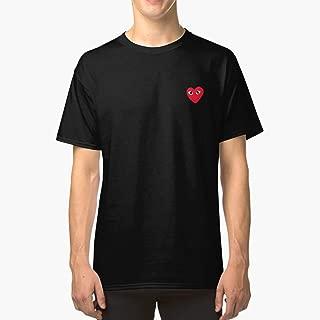 CDG Red Heart Classic TShirtT shirt Hoodie for Men, Women Unisex Full Size.