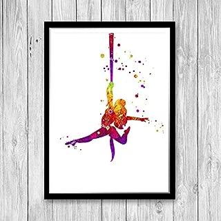 Les Connie Aerial Silk Watercolor Art Print Girl Room Decor Aerial Silks Dancing Club Wall Decor Aerial Yoga Gift Circus Printable Wall Art