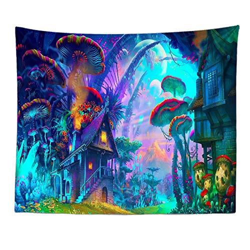 Tapiz Azul naturaleza dibujos animados de setas - Adornos de Arte para Pared de Hogar, Pareo/Toalla de Playa Grande, Chic Decoración Habitacion, Regalo Mujer 1 pieza 150×130cm