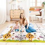 Bebés Alfombrilla juego plegable Alfombra espuma extra grande Alfombrilla reversible para gatear para bebés La decoración la habitación se transforma en colchoneta gimnasio para actividade divertida