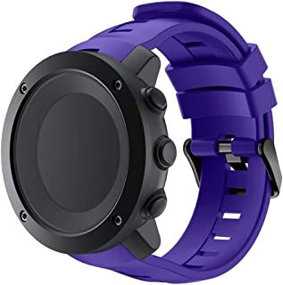 Consumer Electronics Smart Watch Silicone Wrist Strap Watchband for Suunto Ambit3 Vertical(Black) (Color : Purple)