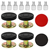 Adjustable Bed Frame Anti Shake Tool, Threaded Headboard Stoppers, Bed Stopper, Head Board Stabilizer, Bed Rail Support Prevents Wobble - Ideal Headboard Bumper or Bed Leg Support (27-90mm, 4 Pack)