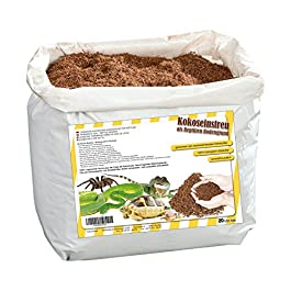 Humusziegel – Terrarium soil made of 100% pure coconut – Super absorbent bedding ready to use – 20 Litres Bag