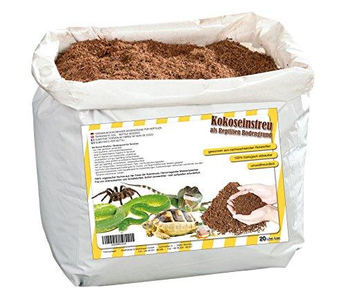 Humusziegel natürliches Terrariensubstrat - lose Kokoserde trocken - 20 L Sack