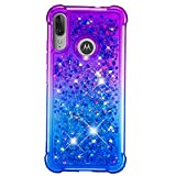 Moto E6 Plus Case, Glitter Bling Gradient Two-Tone Sparkle