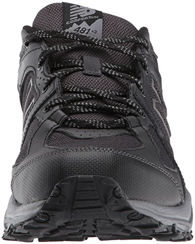 New Balance Men's 481 V3 Trail Running Shoe, Black/Grey, 10 M US 2