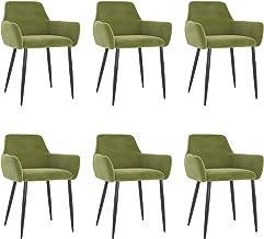vidaXL 6 x krzesło do jadalni, krzesło kuchenne, krzesło tapicerowane, krzesło do salonu, krzesło do jadalni, krzesło do j...