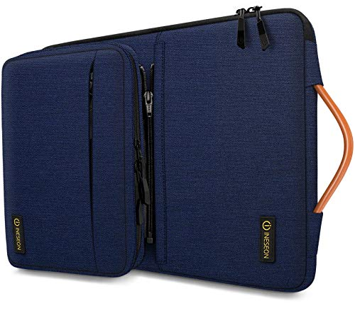 iNeseon 360° Protezione 13-13,3 Pollici Custodia per MacBook Air PRO 13 M1, 13.3   ASUS dell HP Lenovo Huawei Notebook, Computer Portatile Sleeve Cover con Borsa Accessori Staccabile, Blu Scuro