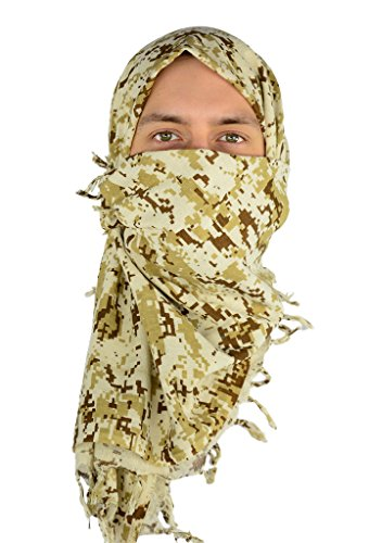 Shemagh Scarf - Military Scarf/Head Wraps  Tactical Camo Design  Hunting + More! - Desert Digital CA2150