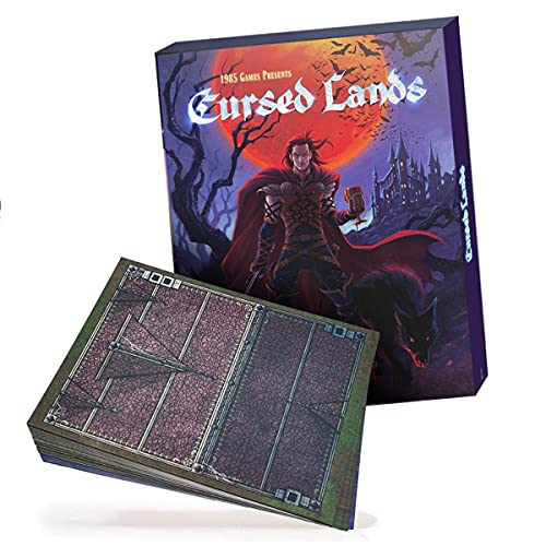 Dungeon Craft: Cursed Lands Board Game - 1000+ Fantasy Tabletop Roleplaying Game Terrain Tiles for Dungeon Battle Maps - Double-Sided Dry / Wet Erase - D&D Compatible