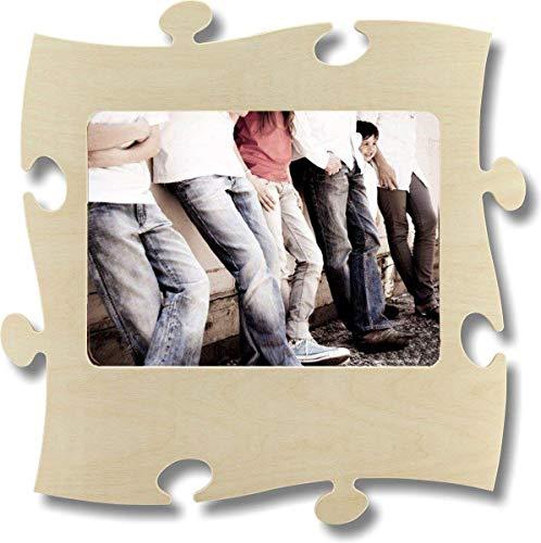 Unbekannt Rahmen Puzzle aus Holz–1Foto 20x 28cm–Natur