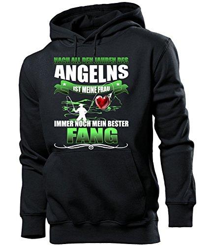 Golebros Jahren des Angelns 5203 Angler Papa lustig Stuhl Bier Männer Papa lustig Vater verkleidung Geschenk für Herren Hoodie Kapuzen Pullover Pulli Hut XL