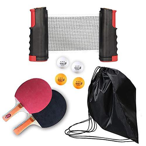 Lowest Prices! Portable Table Tennis Set 1.9M Telescopic Net Rack 1 Pair Table Tennis Paddle Pingpon...