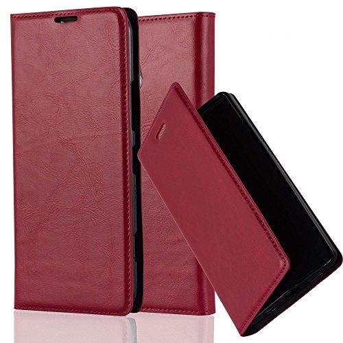Cadorabo Custodia Libro per Nokia Lumia 1320 in Rosso Mela - con Vani di Carte, Funzione Stand e Chiusura Magnetica - Portafoglio Cover Case Wallet Book Etui Protezione