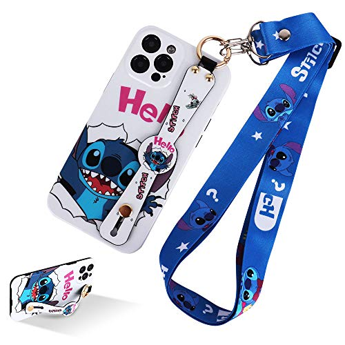HaRuion Phone Case for iPhone 12 Pro Max, Cute Cartoon Personalized Full Protective Phone Cover with Wrist Strap and Lanyard Compatible with iPhone 12 Pro Max 6.7 Inch 2020 (Cartoon 3)