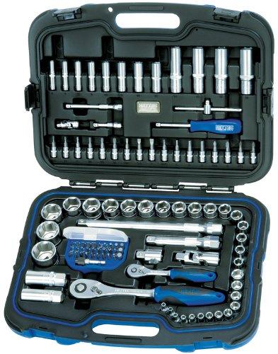 Heyco/Heytec 50825501583 Steckschlüsselgarnitur 1/2 Zoll und 1/4 Zoll 104-teilig im Kunststoffkasten, Chrome Vanadium