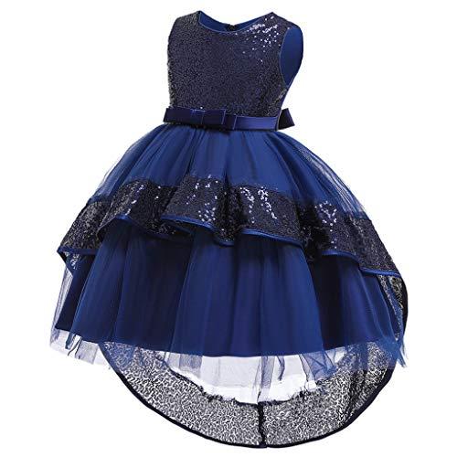 Likecrazy Mädchen Kleid Pailletten Bowknot Weihnachten Festliches Festkleid Abendkleid...