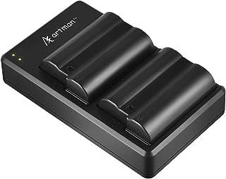 EN-EL15 EN EL15A Artman Battery and USB Dual Charger Set for Nikon D500, D600, D610, D750, D800, D800e, D810, D810a, D850, D7000, D7100, D7200, D7500, 1 v1, Z6, Z7 Cameras(2-Pack, 2100mAh)