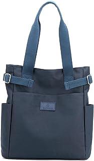 Lavogel Multi-Pocket Tote Schultertasche Multifunktionale Nylon Schulter Handtasche Reise Geldbörse Taschen für Frauen