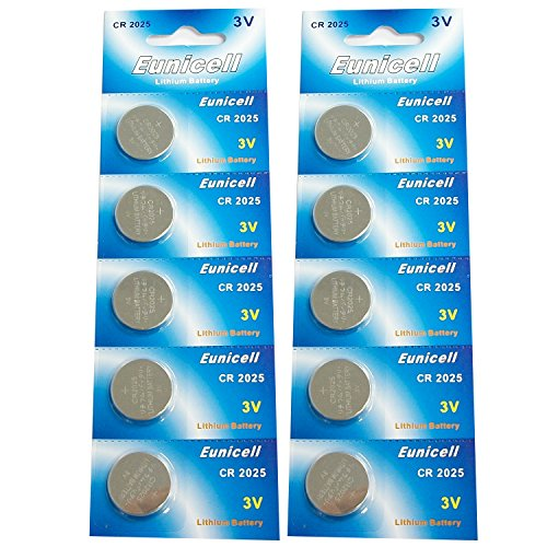 10 x CR2025 BR2025 DL2025 KCR2025 Lithium Coin Cell Batteries for Samsung 3D Glasses