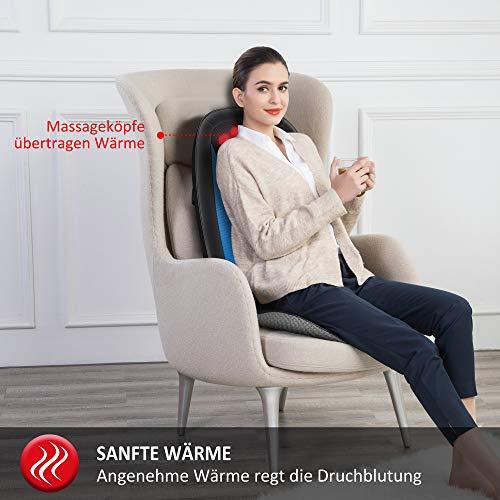 Comfier Masseur de Dos Shiatsu avec Chaleur- Fauteuils et sièges de massage, siège massant pour le soulagement complet de la fatigue, masseur de corps électrique pour maison & bureau